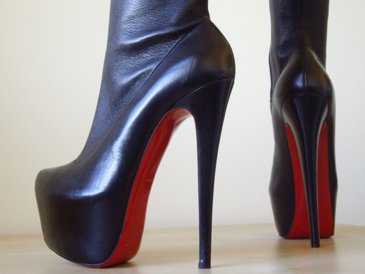 882a130b1cce ... spain christian louboutin new monicarina stretch leather thigh high  boots heels 37 4 7 ebay b4272