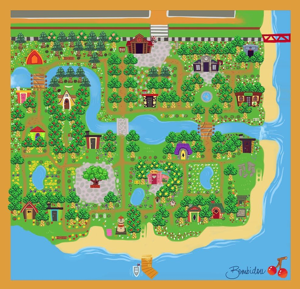 19++ Animal crossing town design images