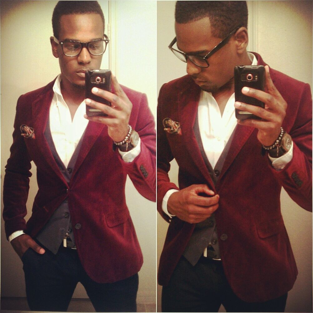 Red Velvet Blazer Men Red velvet bla | Ideas for my guys ...