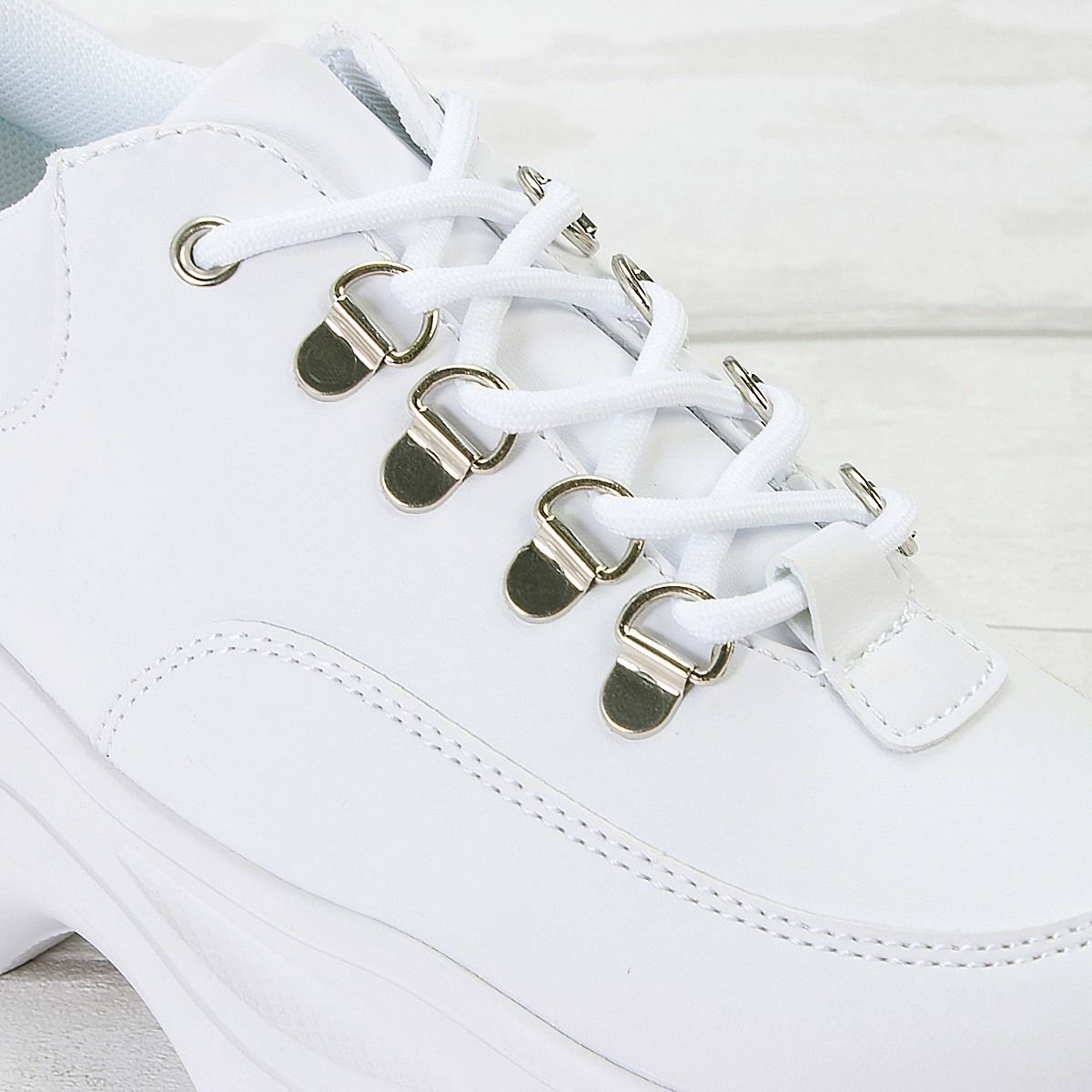 Womens Ladies Hi Tops Trainers Chunky Sneakers Thick Sole Padded Lace Up Shoes