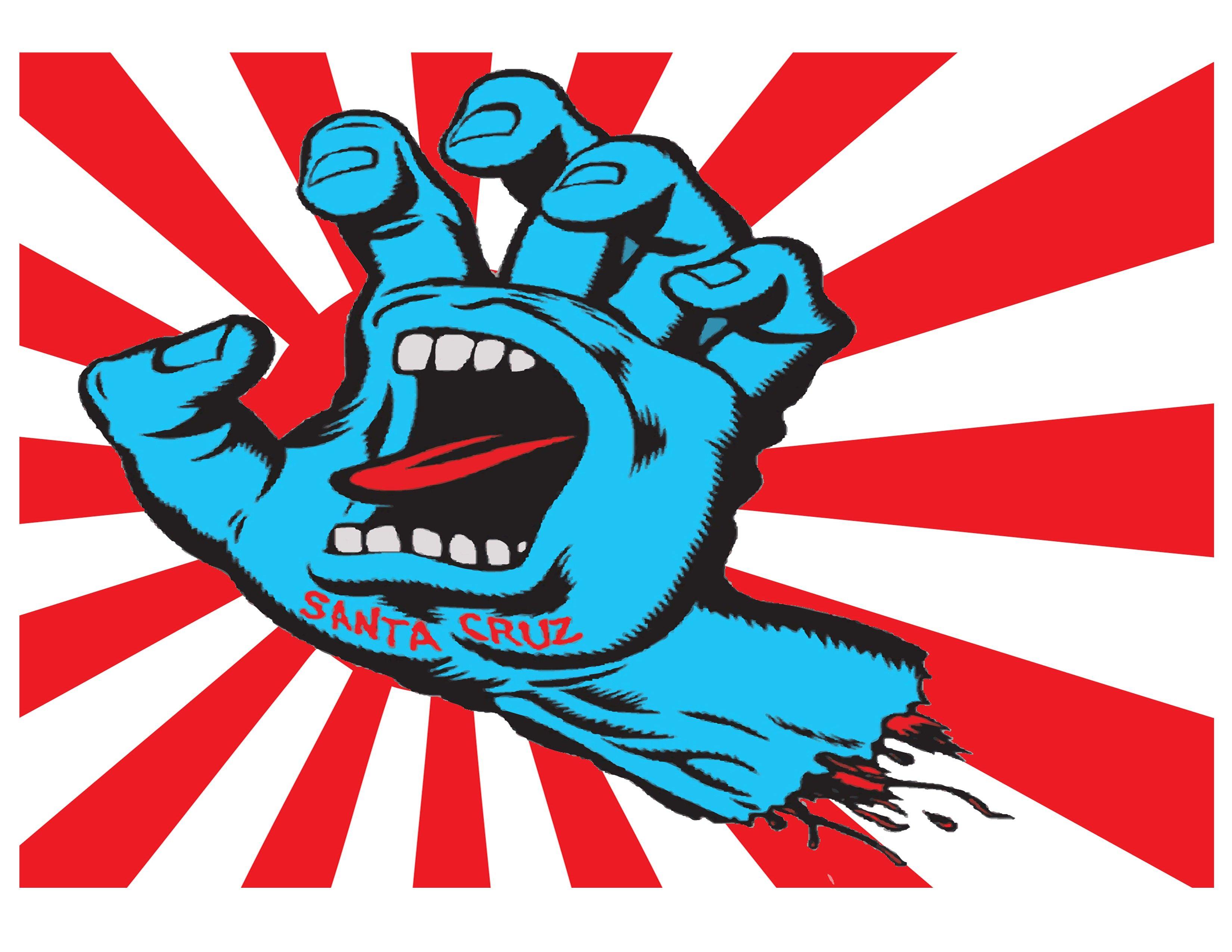 Jim Phillips screaming hand Logo Pinterest