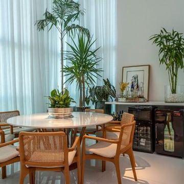 """Sala de Jantar Apartamento Panamby Vernazza Gabriel Magalhães e Luiz Claudio Souza Arquitetos Viva Decora - 62618"""