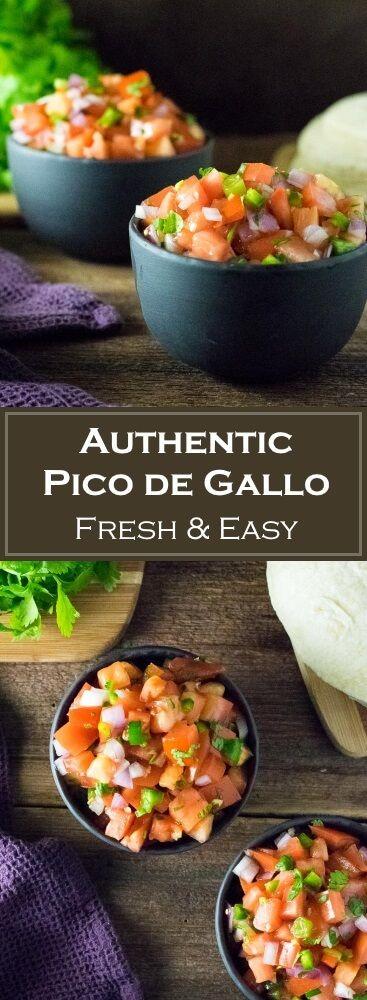 Authentic Pico de Gallo #picodegallorecipes