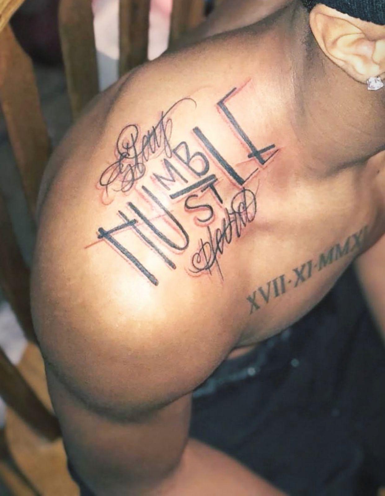Humble Tattoo On Arm : humble, tattoo, Humble/st, Tattoo, Tattoos,, Tattoos, Guys,, Humble