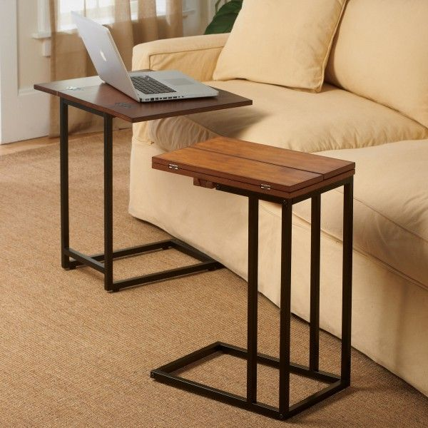 Expanding Tray Table   Rubbed Walnut Recliner Table, Couch Tray, Couch Table,  Sofa