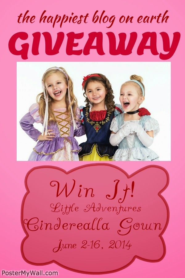 Princess Dress GIVEAWAY! Enter now at www.TheHappiestBlogOnEarth.com