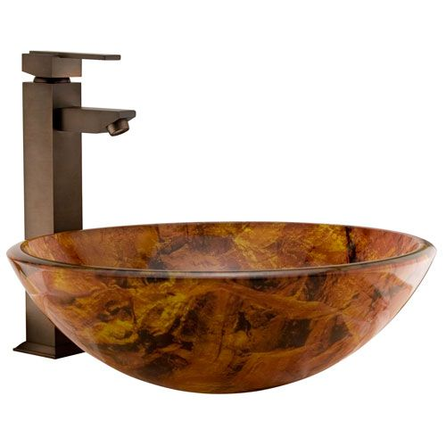 Canyon Glass Vessel Sink Glass vessel sinks, Vessel sink and Glass - Vessel Sinks Bathroom