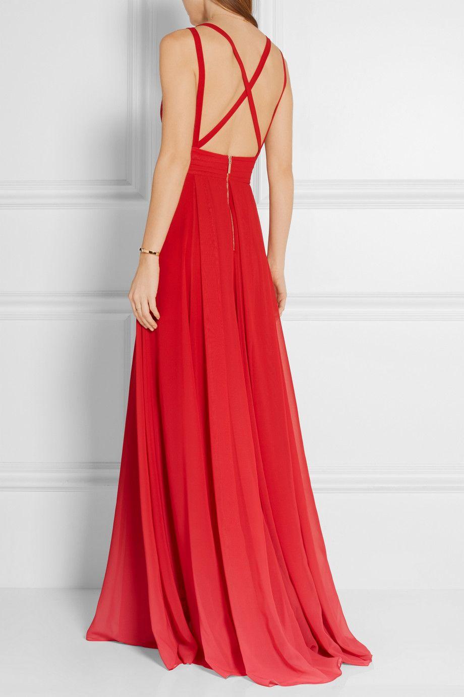 Elie saab dégradé georgette gown netaportercom long dresses