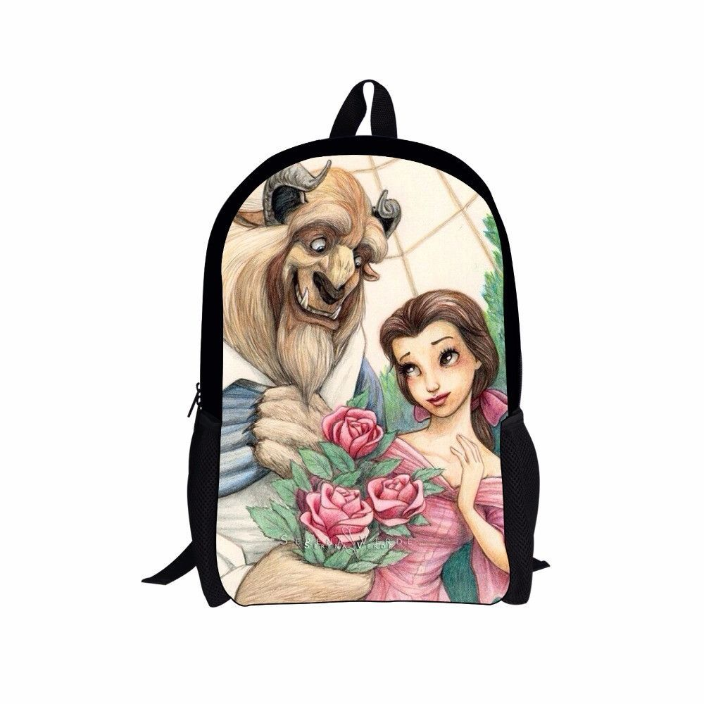 c6578146cd4 FORUDESIGNS Cartoon Princess Snow White School Bags for Girls Children  Schoolbag Beauty and the beast Kids Bookbags Mochila