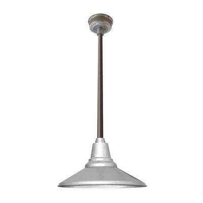 """Cocoweb Calla 1 Light LED Mini Pendant Finish: Galvanized Silver, Size: 48"""" H x 18"""" W x 18"""" D"""