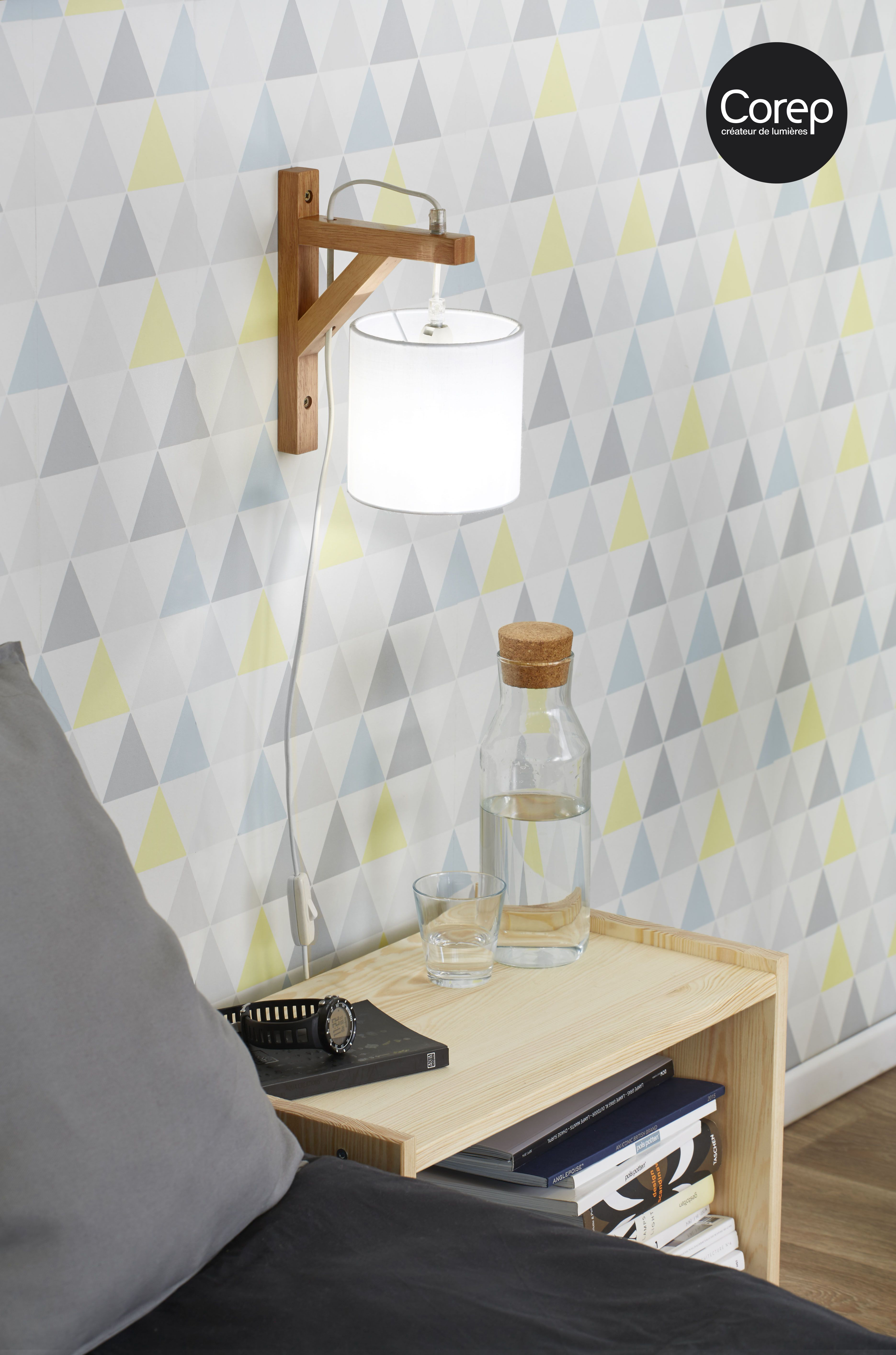 Applique En Bois Stockholm Esprit Scandinave Reference 91426 Abat