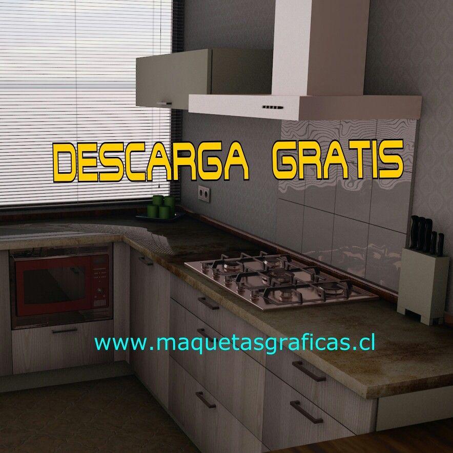 Dorable Cocina Modelo 3d Gratis Motivo - Ideas de Decoración de ...