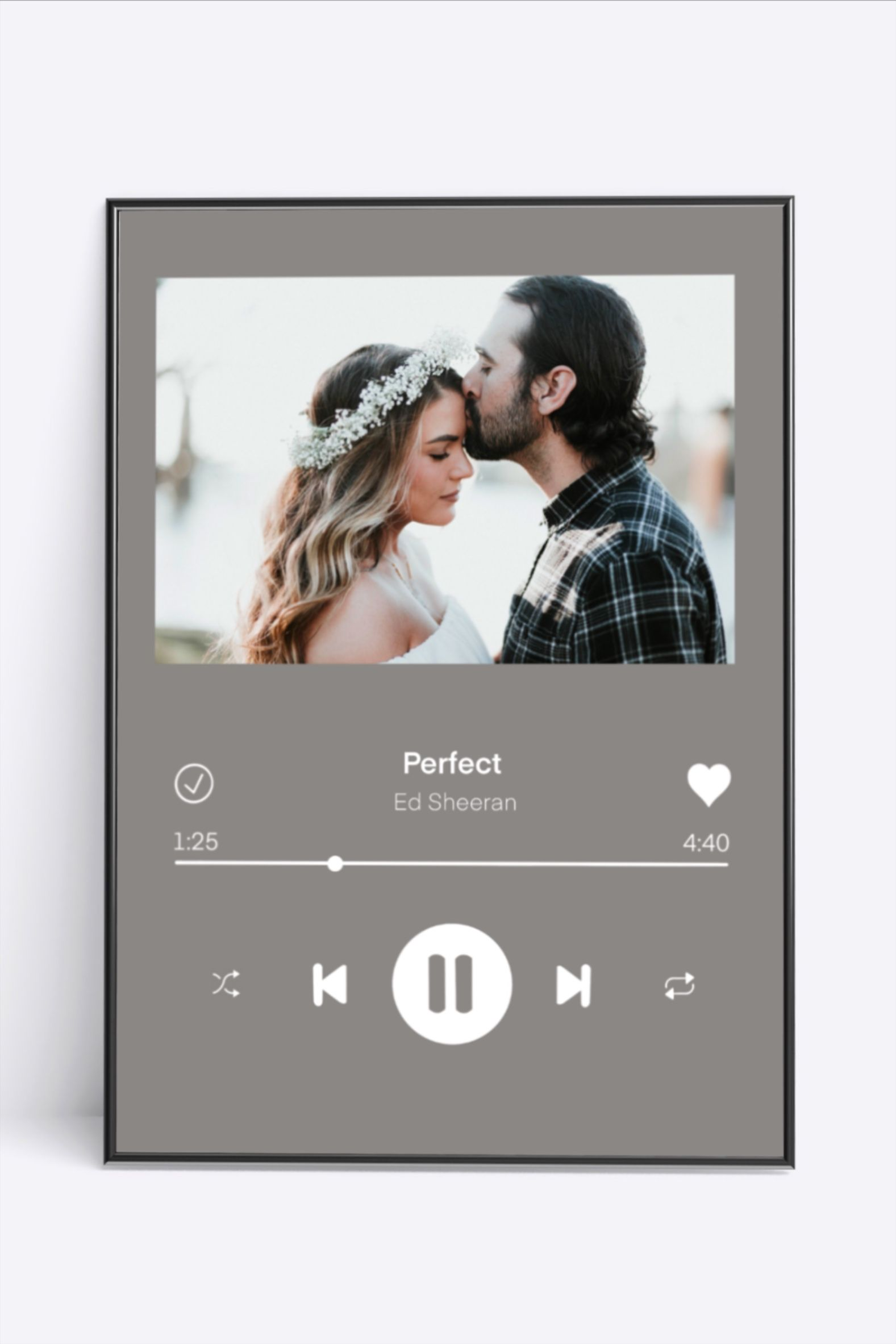 Poster - picture with song personalized in original length