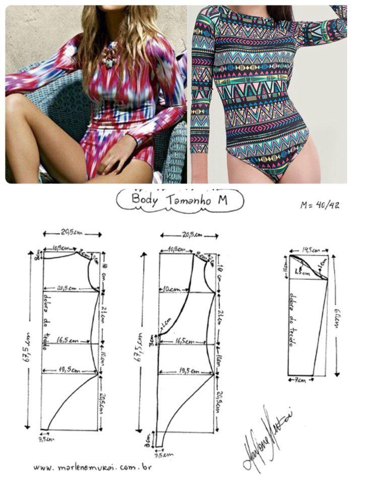 Como hacer el patr\'on de un body. | Proyectos de costura | Pinterest ...