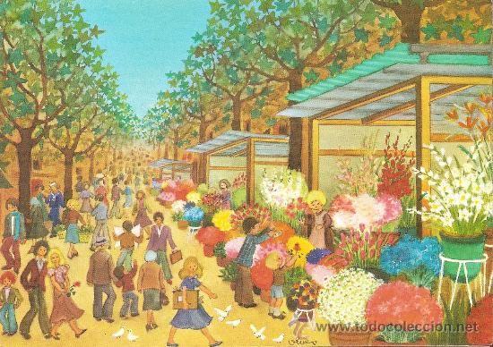ILUSTRADOR: VIVES, LA RAMBLA DE LAS FLORES (BARCELONA) - KOLORHAM E 5013 - NUEVA