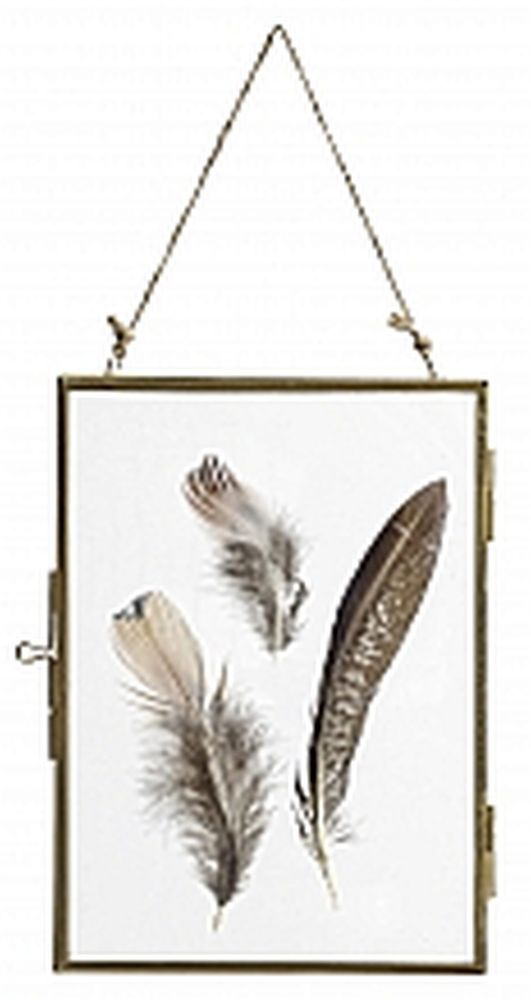 Bilderrahmen Glas Metall Rahmen Gold Federn Nordal | Home ...