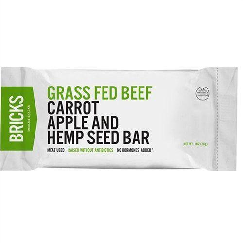 Bricks Protein Bar Beef Carrots Apples Hemp Seed 12 Pack Hemp Seeds Carrots Grass Fed Beef