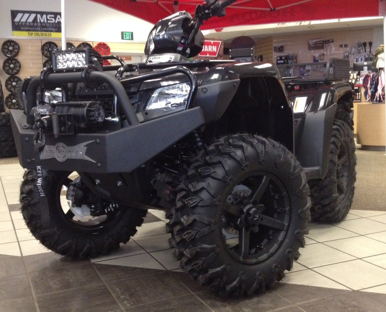 BG-46W - Winch Series Front Bumper for Honda Foreman 500 & Rancher 420 | Four wheelers ...