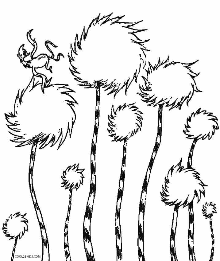 Printable Lorax Coloring Pages For Kids Cool2bkids Tree Coloring Page Dr Seuss Coloring Pages Lorax Trees