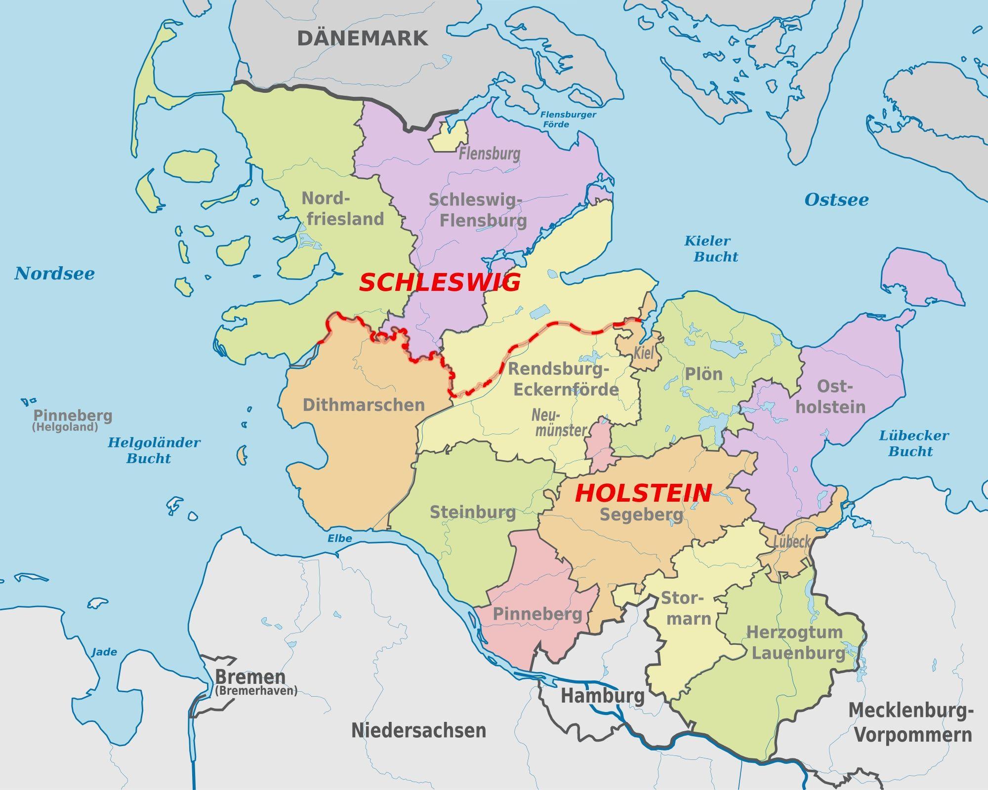 Map German Map Holstein