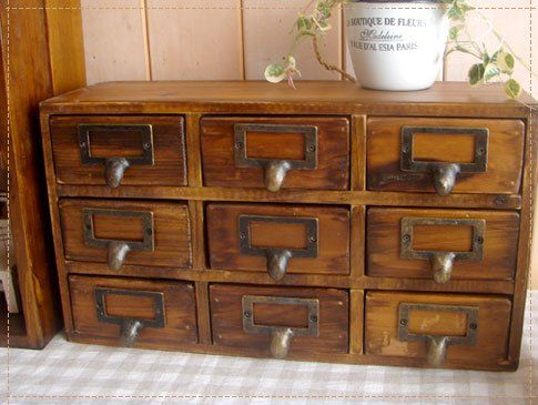 Natural Solid Wood 9 Drawer Mini Chest 79 00 Furniture Set Of Drawers Home Decor