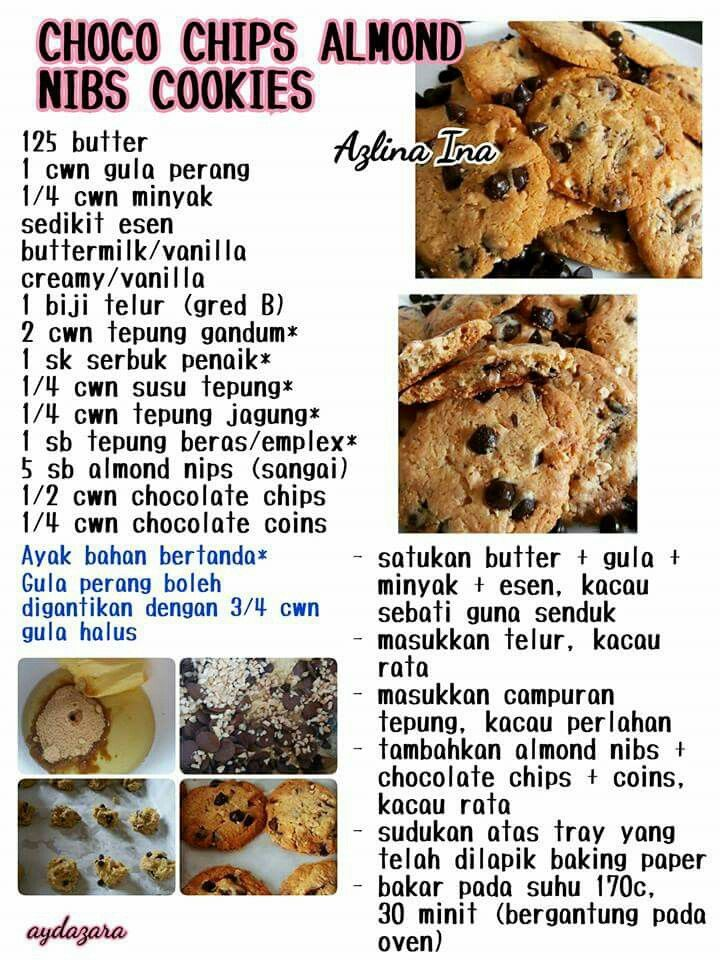 Choco Chips Almond Nibs Cookies Biscuit Recipe Cookie Recipes Recipes