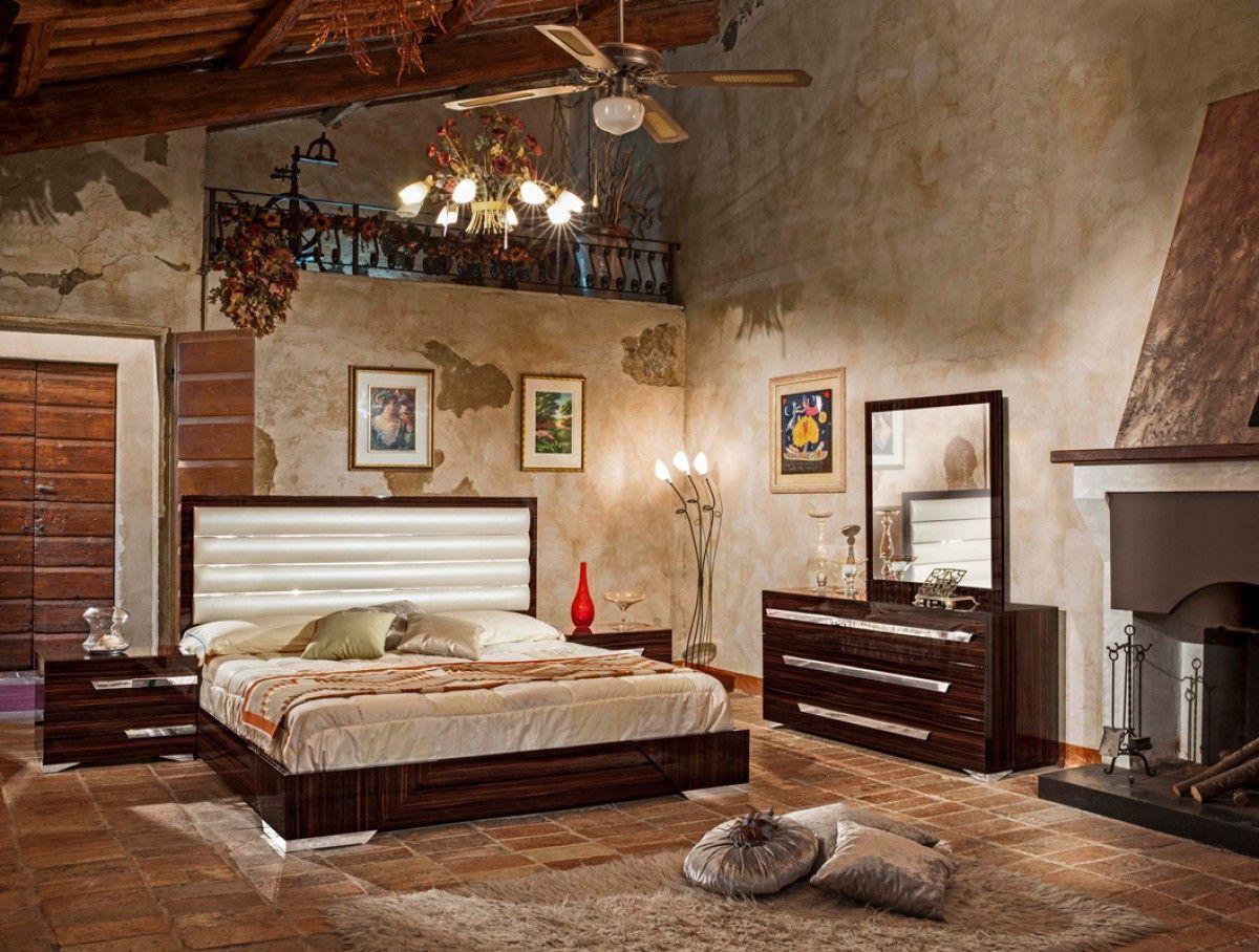 Nova Domus Romano Italian Modern Ebony Queen Bedroom Set Vgacromano Ebony Set
