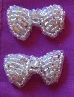 "Bow Iridescent "" Beaded"