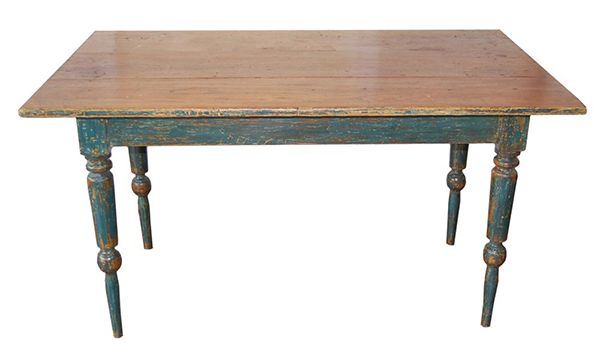 French Canadian farm table. CIRCA 1800's DIMENSIONS 30