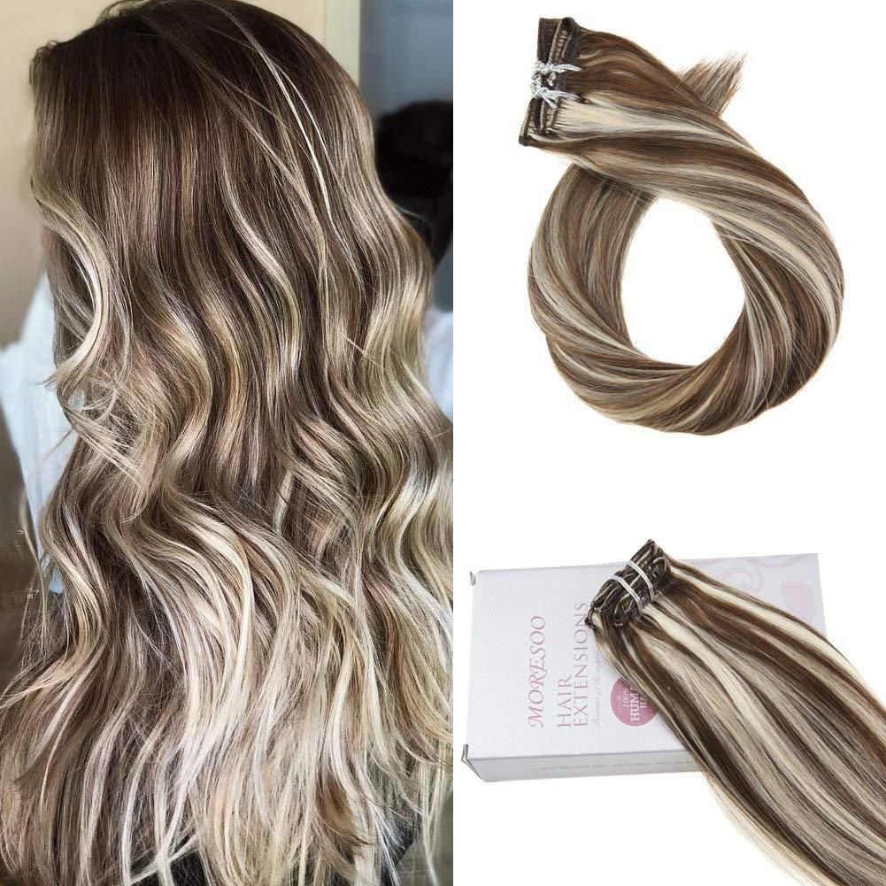 Moresoo Piano Color 120g Clip In Hair Extensions Full Head