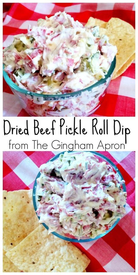 Dried Beef Pickle Roll Dip- all the flavor of pickle rolls, but much easier and less messy!