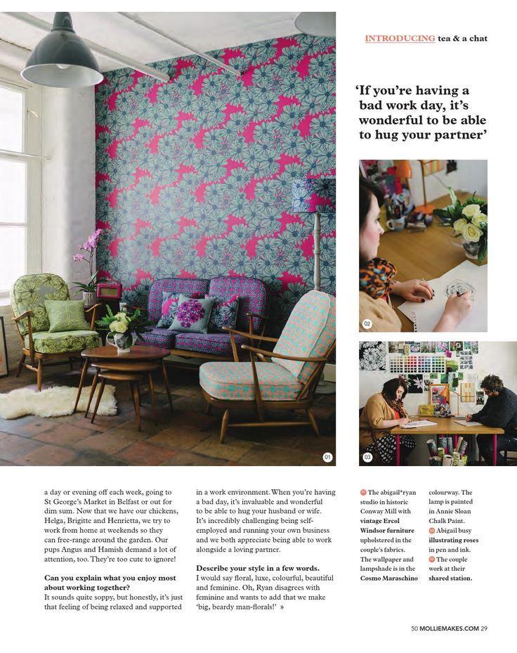 Casinha colorida: Rapidinha décor: Mollie Makes Magazine