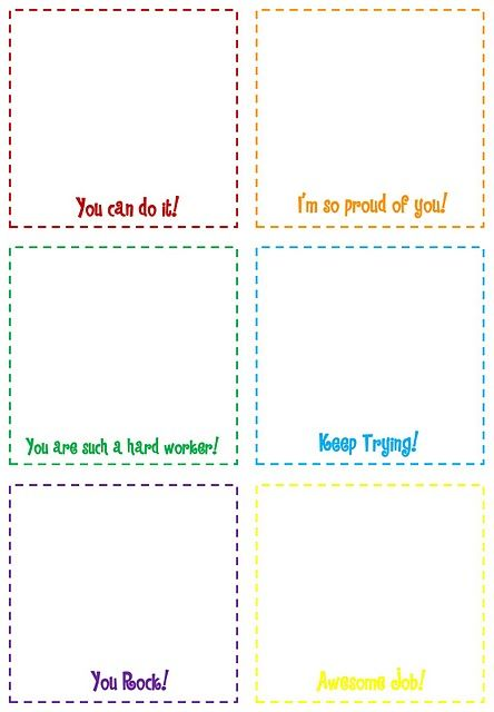 Print These Simple Boxes To Keep On Hand For Writing Quick Notes
