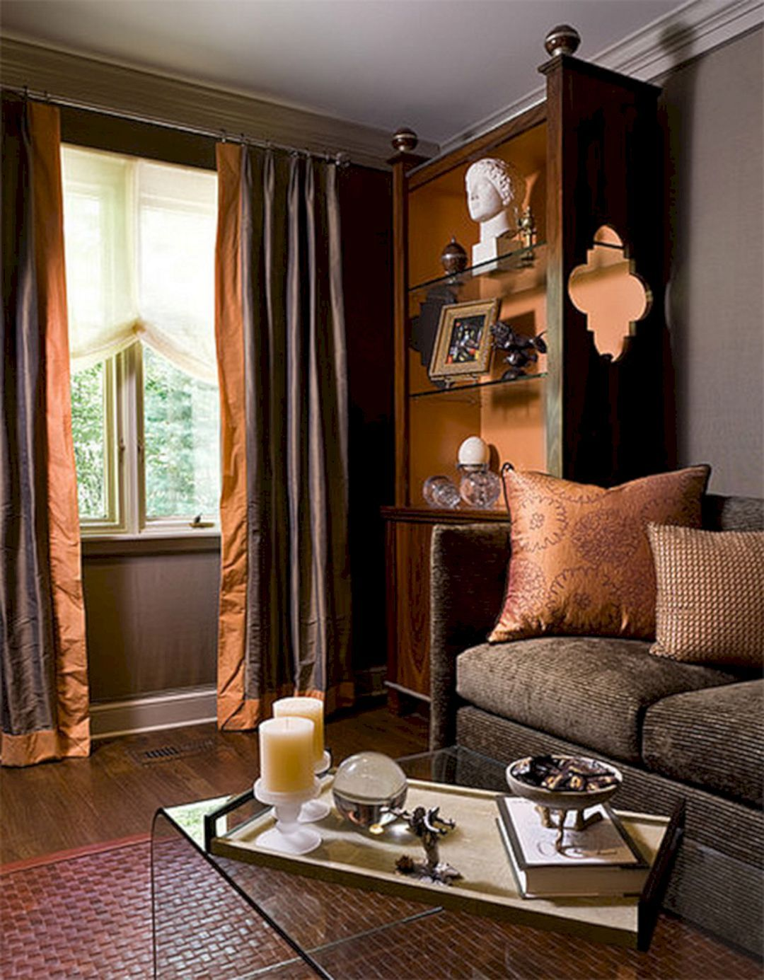 24 Amazing Rust And Grey Living Room Color Schemes Brown Li