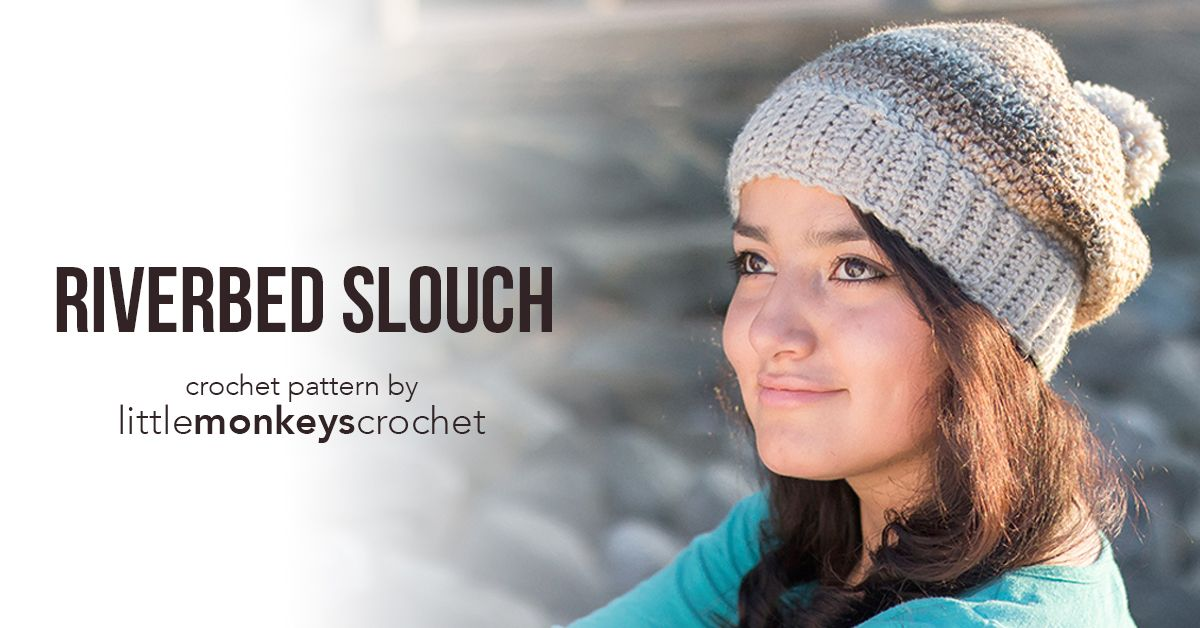 Riverbed Slouch Hat Crochet Pattern Free Slouchy Hat Crochet