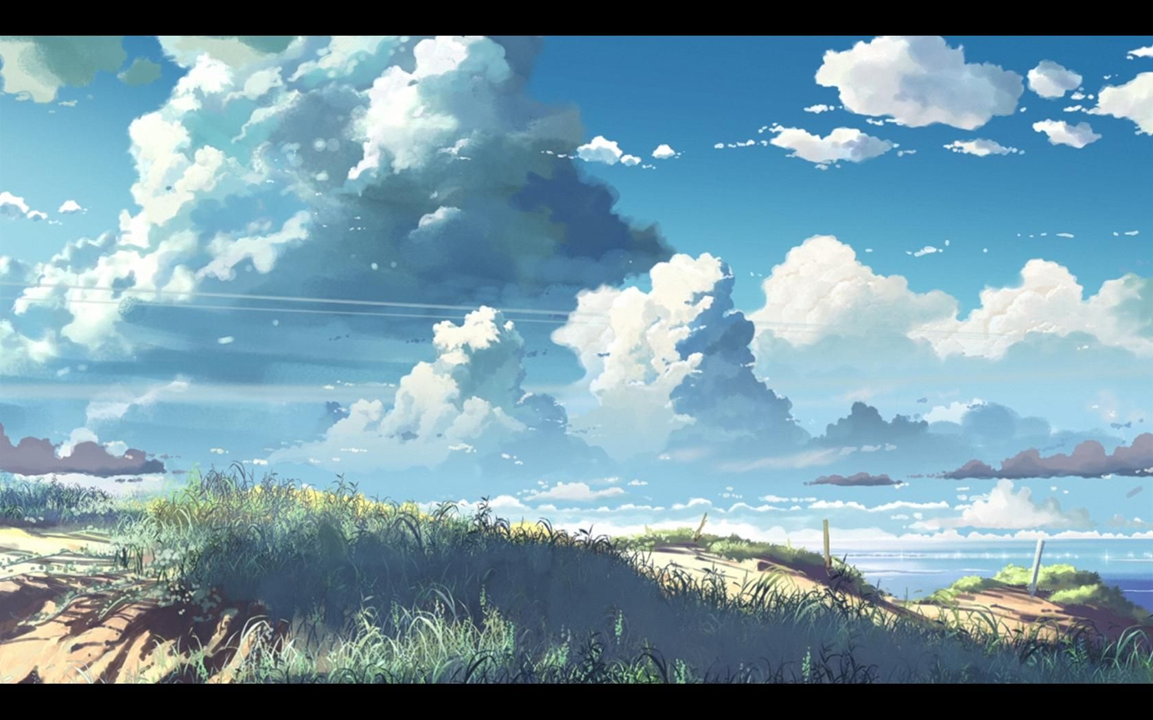 cool painterly clouds Google Search Anime scenery