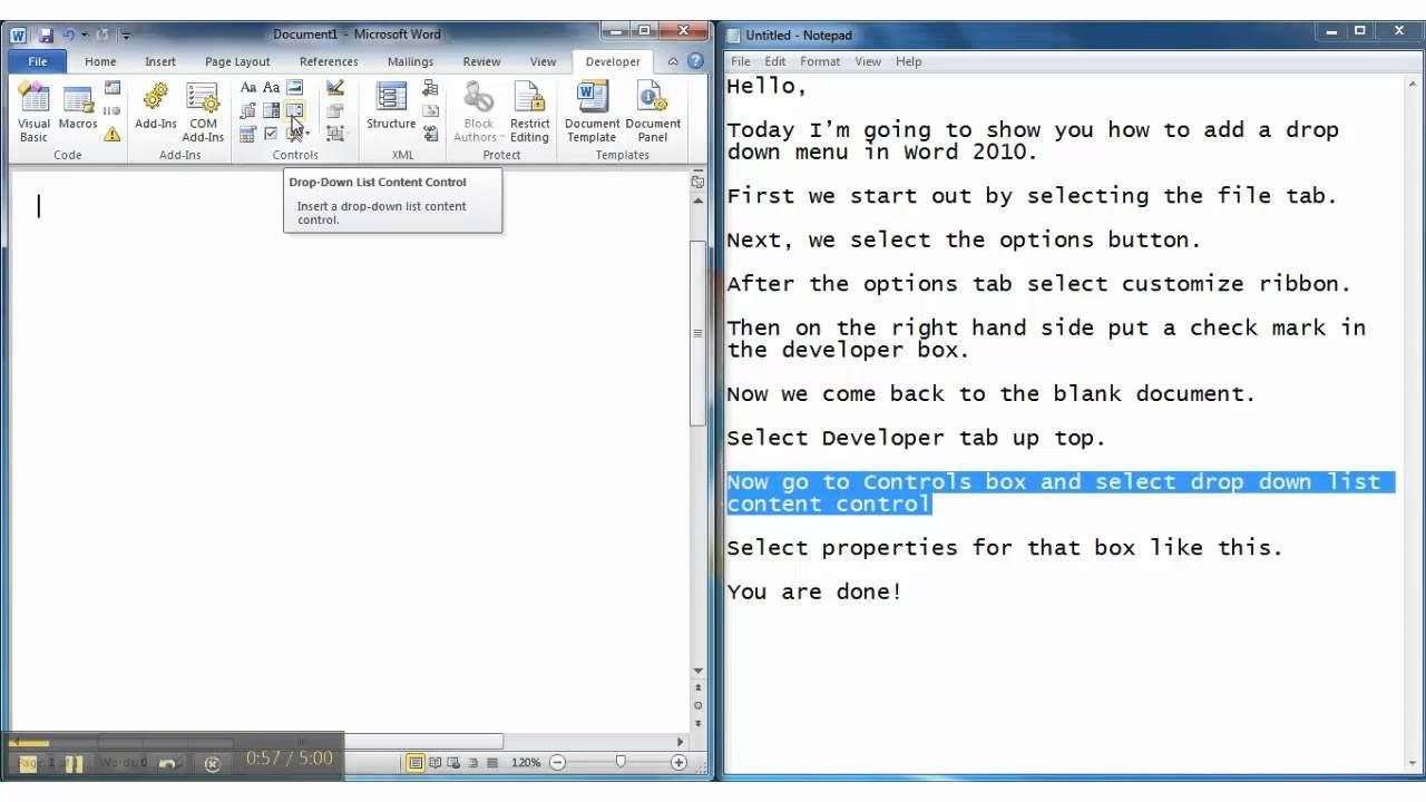 How To Add A Drop Down Menu In Microsoft Word 2010 Throughout Word 2010 Templates And Add Ins Microsoft Word 2010 Family Tree Template Word Word Template