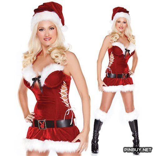 25dbccd4c046 Naughty Miss Santa Adult Sexy Ms Mrs Claus Baby Christmas Fancy ...