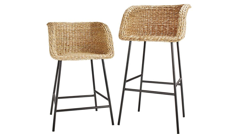 Silas Seagrass Counter Stool 24 Seagrass Bar Stools Wicker Bar Stools Bar Stools