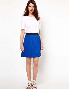BZR Scuba Pleated Skirt