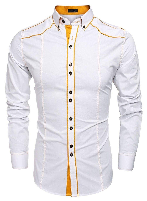 Mens Clothing Shirts Dress Shirtsmen Dress Shirts Cotton Turn