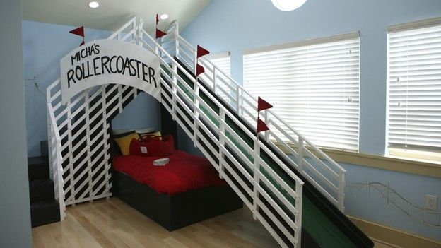 Rollercoaster bedroom...love the slide over top Extreme