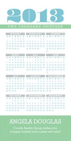 2018 calendar business holiday cards and design layouts 2013 calendar business holiday card reheart Image collections