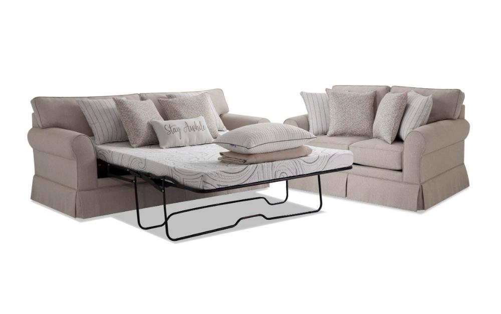 Laurel Beige BobOPedic Cooling Sleeper Sofa & Loveseat