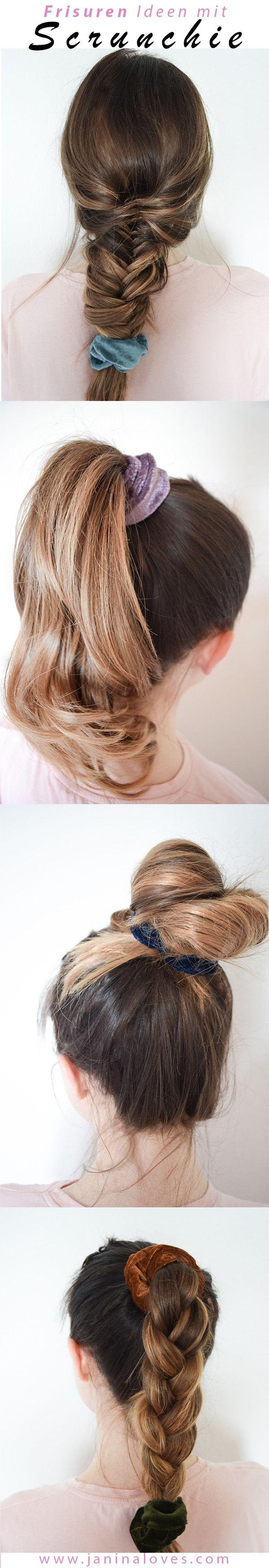Scrunchie Haargummi 5 Arten Den Trend Der 90er Zu Stylen Haargummi Scrunchie Frisuren Haar Styling