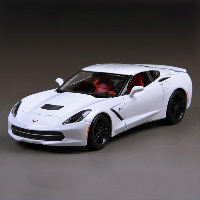Click To Buy Diecast Car Corvette C Z White - Model sports cars