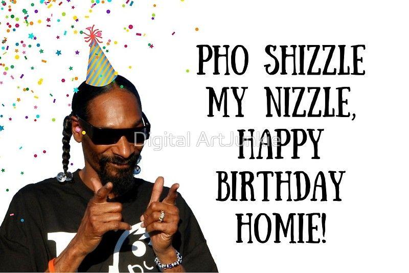 Snoop Dogg Birthday Card Sticker Rapper Greeting Card Meme