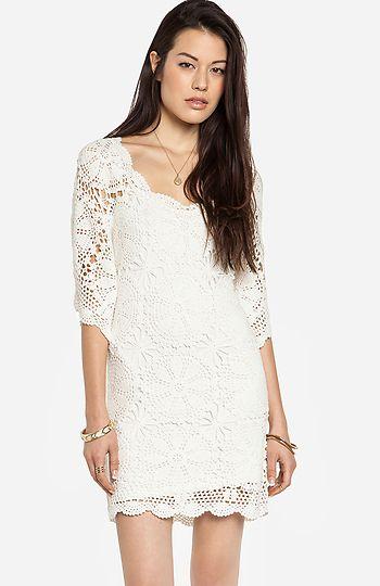 lucca couture crochet dress | dailylook | merce | vestidos, ropa y moda