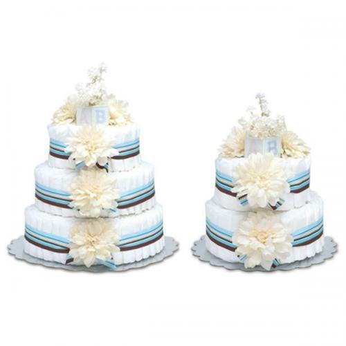 Cream Dahlia Diaper Cake - http://www.247babygifts.net/cream-dahlia-diaper-cake-2/
