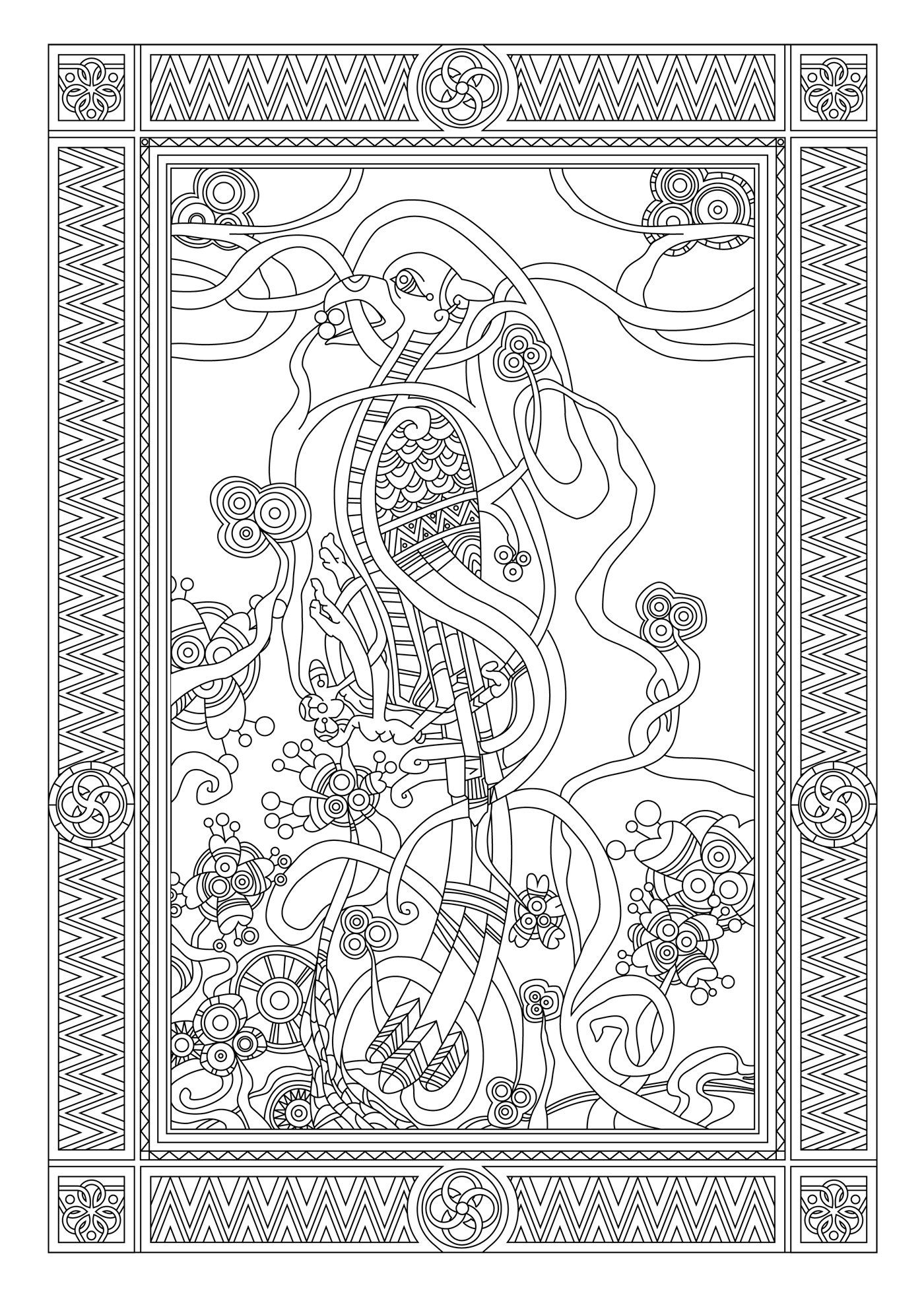 Art th rapie celtique 100 coloriages anti stress amazon - Coloriage therapie ...